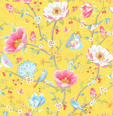 Leizu Yellow Chinese Garden Wallpaper