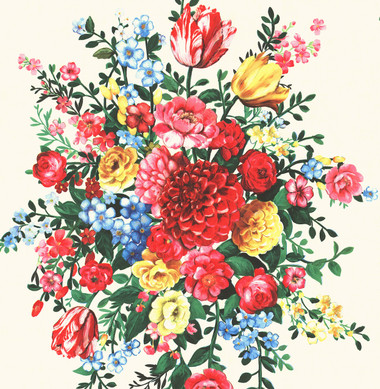 Ayaanle Cream Dutch Painters Floral Wallpaper