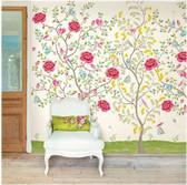 White Morning Glory Mural 341094 Mural