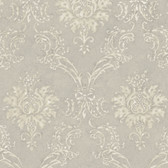 Cream Devon Damask Wallpaper