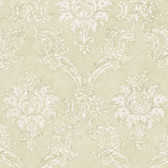 Beige Devon Damask Wallpaper
