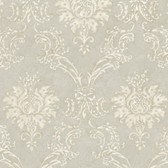 Grey Devon Damask Wallpaper