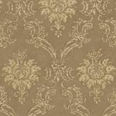 Copper Devon Damask Wallpaper