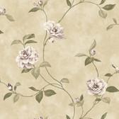 Beige Rosaline Floral Wallpaper