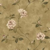 Espresso Rosaline Floral Wallpaper