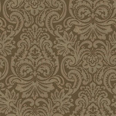 Brown Dante Damask Wallpaper