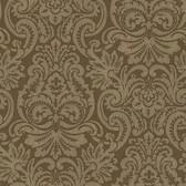 Brown Dante Damask Wallpaper