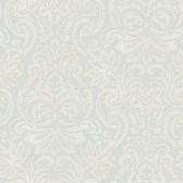Silver Dante Damask Wallpaper