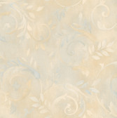 Blue Contemporary Acanthus Wallpaper