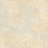 Blue Contemporary Acanthus Wallpaper