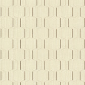 Harrison Beige Rectangular Geo Wallpaper