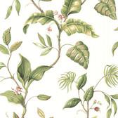 Eldora Ivory Evening Tropics Leaves Wallpaper