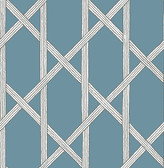 Mandara Blue Trellis Wallpaper