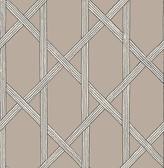 Mandara Taupe Trellis Wallpaper