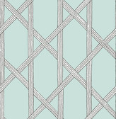 Mandara Light Blue Trellis Wallpaper