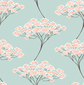 Banyan Light Blue Trees Wallpaper