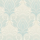 Twill Sage Damask Wallpaper
