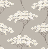 Banyan Taupe Tree Wallpaper