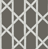 Mandara Charcoal Trellis Wallpaper