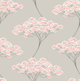 Banyan Beige Tree Wallpaper