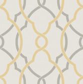 Sausalito Yellow Lattice Wallpaper