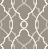 Sausalito Grey Lattice Wallpaper