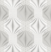 Optic Silver Geometric Wallpaper