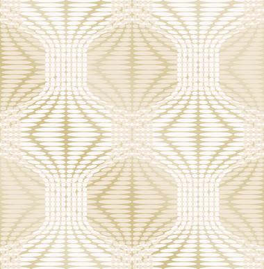 Optic Gold Geometric Wallpaper