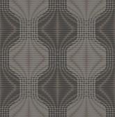 Optic Brown Geometric Wallpaper