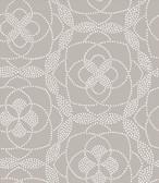 Cosmos Light Grey Dot Wallpaper