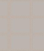 Gridlock Copper Geometric Wallpaper