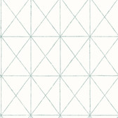 Intersection Turquoise Geometric Wallpaper