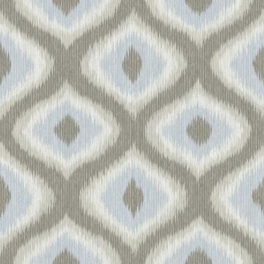 Abra Grey Ogee Wallpaper