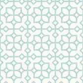 Maze Turquoise Tile Wallpaper