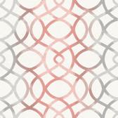 Twister Coral Trellis Wallpaper
