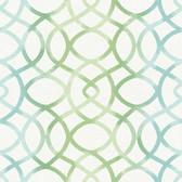 Twister Aquamarine Trellis Wallpaper