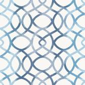 Twister Blue Trellis Wallpaper