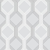 Linkage Grey Trellis Wallpaper