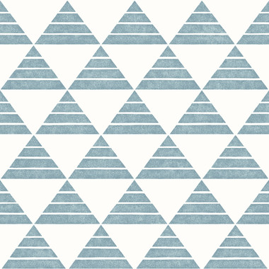 Summit Turquoise Triangle Wallpaper