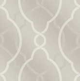 Sausalito Champagne Lattice Wallpaper