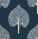 Grove Blue Tree Wallpaper