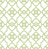 Atrium Green Trellis Wallpaper