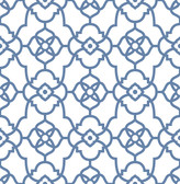 Atrium Blue Trellis Wallpaper
