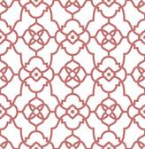 Atrium Coral Trellis Wallpaper