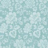 Tivoli Turquoise Floral Wallpaper