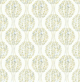 Versailles Green Botanical Geometric Wallpaper