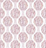 Versailles Magenta Floral Damask Wallpaper