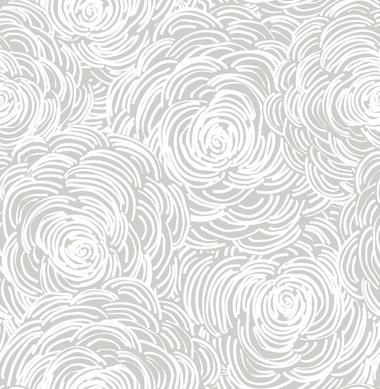 Celestial Grey Floral Wallpaper