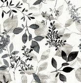 Gossamer Black Botanical Wallpaper