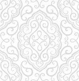 Heavenly Dove Damask Wallpaper